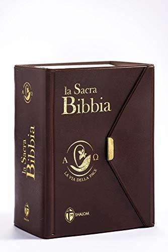 La Sacra Bibbia. La via della pace. Ediz. tascabile con bottoncino marrone