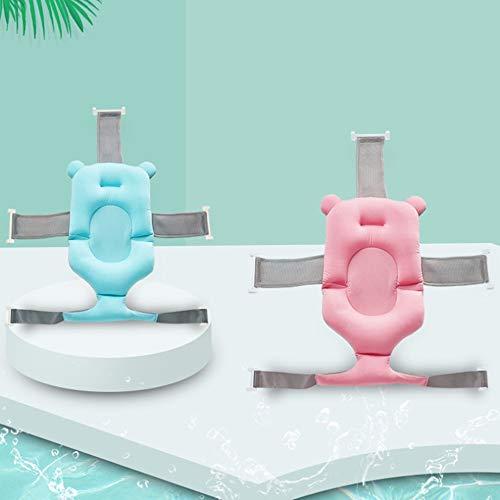 LiangDa Baby-Badematte Universal-neugeborenes Baby Baby Dusche Tasche Mesh-Badeschwamm Badematte Schwebebett-Pad 2 Farbsuspension Netz rutschfeste Badematte (Farbe : Pink, Size : 64x61cm)