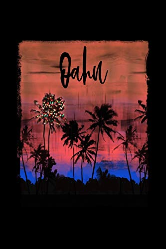 Oahu: Hawaiian Christmas Notebook With Lined Wide Ruled Paper For Taking Notes. Stylish Tropical Travel Journal Diary 6 x 9 Inch Soft Cover. For Home, Work Or School.