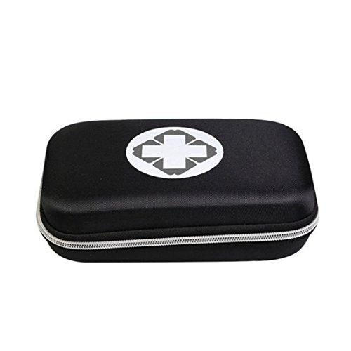 Lifesport Erste Hilfe Set, Erste-Hilfe-Koffer First Aid Kit Notfalltasche Medizinisch Tasche Klein kompakt Perfekt Design für Haus Auto Camping Jagd Reisen Natur und Sport (Schwarz)