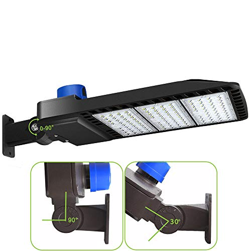 LEDMO 300W LED Parking Lot Lights with Adjustable Arm Mount Dusk-to-Dawn Photocell Sensor, Outdoor Parking Lot Lighting 36000LM, 5000K, PI65 DLC UL Listed
