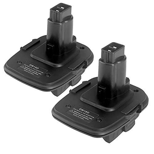 DM18D Adaptador de batería con USB El Puerto convertir la batería de Ion Litio 20V DCB200 DCB204 Milwaukee M18 a porwalt NICD & NIMH DC9096 Batería, WQQWQQ-8521 (Color : 2 Piece)