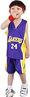YAZHIJIAO Kids 24#Basketball Jersey Shorts Children Basketball Uniform Boys Shirt Tank top