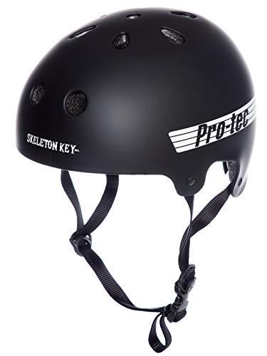 Pro-Tec Helmet Skeleton Key Old School Cert Skateboard Helm Unisex Erwachsene, Unisex, Mehrfarbig (schwarz/weiß), L