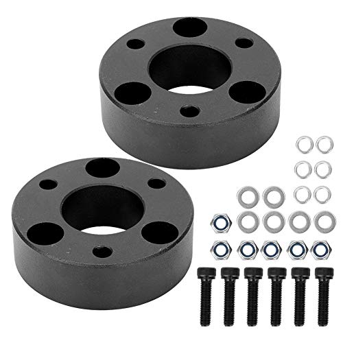 """Front Leveling Kit, 2.5in Aluminium Front Leveling Lift Kit Zubehör 2.5""""Front Lift Billet Aluminium Federbein Spacer Fit für RAM 1500 4WD 2006-2019"""