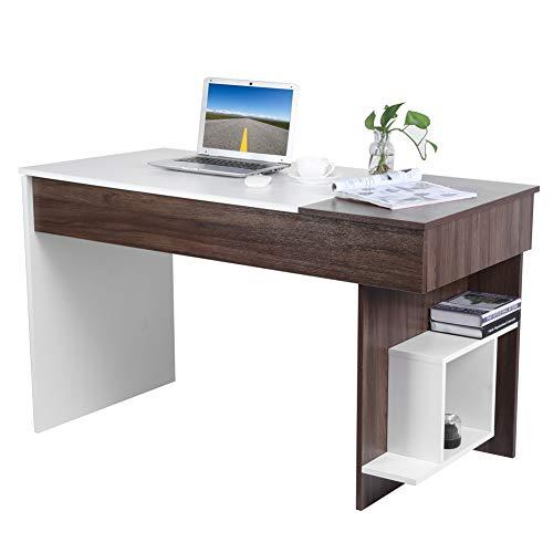 Schreibtisch Computertisch aus Holz Arbeitstisch PC Tisch Bürotisch mit Schublade und Ablagen Laptoptisch Modern Design Büromöbel Konferenztisch Studiertisch Workstation für das Büro Wohnzimmer