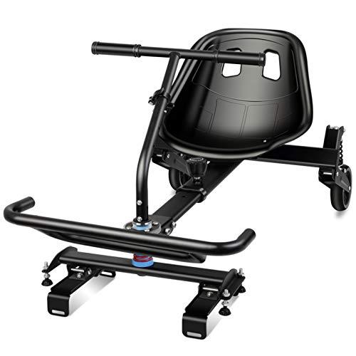 NENGGE Kart de Suspensión para Todoterreno para Scooter de Auto Equilibrio de 2 Ruedas, Diseño Mejorado con suspensión Debajo del Asiento, Compatible Hoverboard de 6.5, 8.5 y 10 Pulgadas