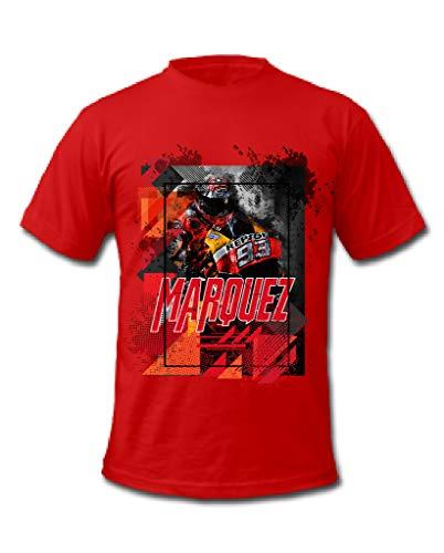 Cold Gun Marc Marquez 93 MotoGP Racing Driver T-Shirt Gr. S, rot