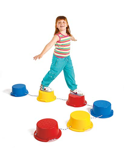 edx education 53899 Step-a-Stones Model, 6 Pieces. Indoor and Outdoor - Stackable - Build Coordination and Confidence - Physical and Imaginative Play