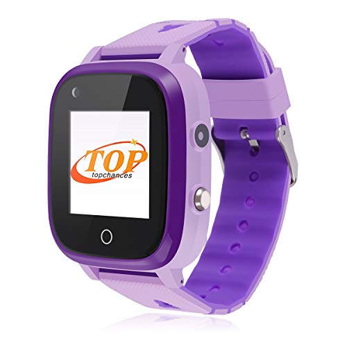 Smartwatch Kinder, Bluetooth-Uhr mit GPS-Tracker, Alarm, Schrittzähler, Kamera, SOS, wasserdicht,Touchscreen WiFi Smartwatch Kinder Smartwatch Kinderuhr mädchen smartwatch für Kinder