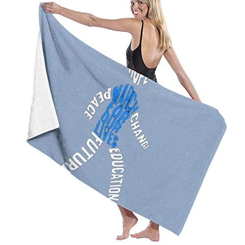 LREFON March for Our Lives 2018 Toallas de baño Moda Toalla de Ducha de Secado rápido Personalidad Toalla de Playa Suave para Nadar (31.5X51.2 Pulgadas)