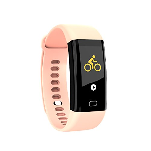 Fitness Tracker, Anggo schermo a colori cardiofrequenzimetro impermeabile per nuoto Activity Tracker contapassi intelligente bracciale sportivo Wristband Sleep monitor Smartwatch per iPhone e Android