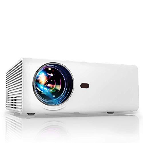 Proiettore Portatile per smartphone Mini Videoproiettore Full HD 5500 Lumen 1080P Compatibile Android/Tv/Usb/Hdmi/Laptop