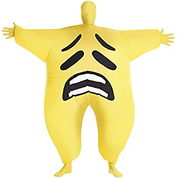 Sad Emoticon Inflatable Megamorph Blow Up Costume - One Size fits Most