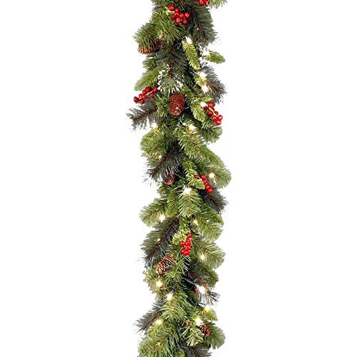 HUHU833(TM) 9 ft Led Christmas Garland,Pre-lit Artificial Pine Garland,LED Lighted up Christmas Decorations,Christmas Cedar String Lights for Christmas Indoor Outdoor Decor
