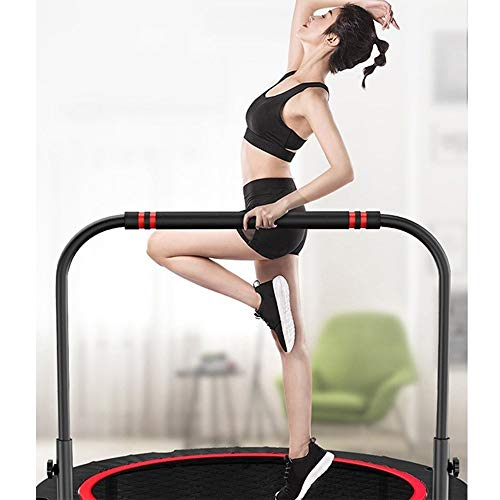 NEWMAKES 40IN 48IN Premium Unisex-Youth Trampolines, Foldable Rebounder Trampoline with Handrail&Edge Cover Exercise Trampoline for Adults Kids Indoor/Outdoor Home Gym Equipment