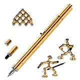 asuku Magnetic Sculpture Building Toys Building Blocks, Eliminate Pressure Fidget Gadgets, Relieving Stress Boredom ADHD Autism, Office and Home Decoration,Creative Magnetic Pen (Gold)