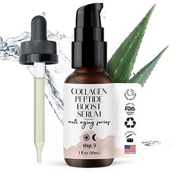 Collagen Peptide Complex Serum - Tighten Firm & Smooth - Advanced Natural & Organic Anti-Aging Facial Formulation by Foxbrim Naturals 1oz