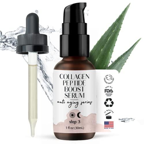 Collagen Peptide Complex Serum - Tighten, Firm & Smooth - Advanced Natural & Organic Anti-Aging Facial Formulation by Foxbrim Naturals 1oz