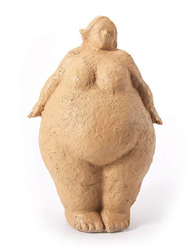 Amoy-Art Skulptur Figur Mutes Frau Statue Art Dekor für Haus Wohnzimmer Geschenk Andenken Giftbox Resin 27cmH
