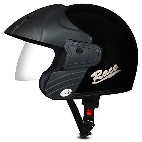 ACTIVE RACE Open Face Helmet (BLACK)