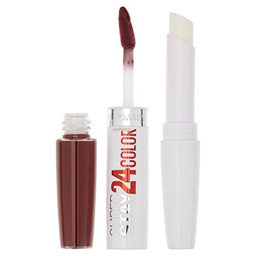 Maybelline New York Make-Up Lippenstift Super Stay 24h Color liquid Lipstick Burgundy / Sattes Weinrot mit 24 Stunden Halt, 1 x 5 g