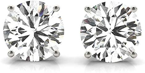 IGI Certified (2.00 cttw, H-I Color, VS2-SI1 Clarity) 14K Yellow or White Gold Round Lab Grown Diamond Stud Earrings Push Backs or Screw Back by Stefano Navi