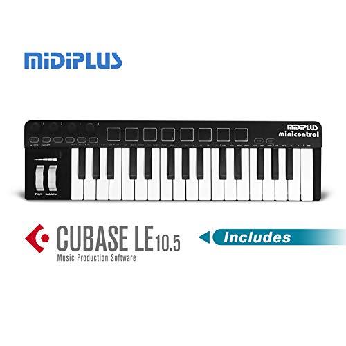 midiplusminicontrolMidiキーボードコントローラDTM定番ソフトCubaseLE付