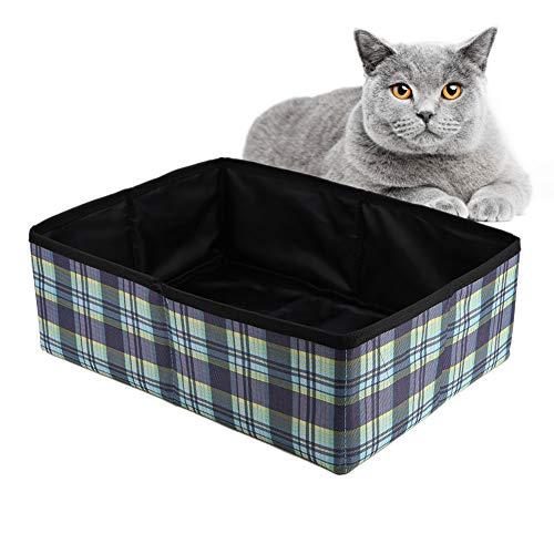 lahomie Faltbare Katzentoilette,Faltbare Katzentoilette Reise-Katzenklo Tragbare Reise Katzen Box für Reisen Camping Heimgebrauch