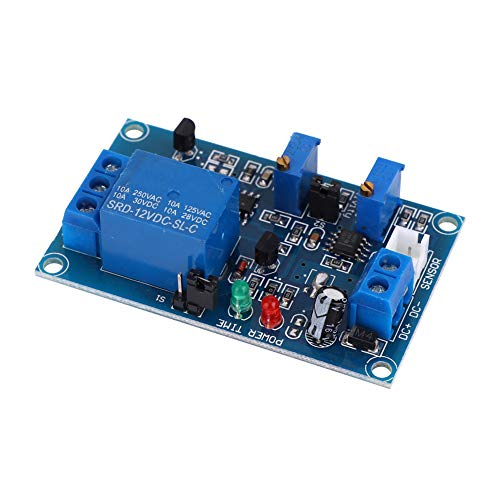 Módulo de relé fotorresistor, sensor de detección de luz confiable, uso profesional práctico y resistente para componentes electrónicos, equipos electrónicos de uso general(DC 12V)