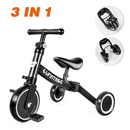 Inconnu besrey 3 en 1 Tricycle Vélo Draisienne pour Enfant, avec Hauteur Réglable de Selle et...