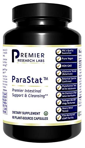 Premier Research ParaStat' Intestinal Support & Cleansing, 60 Plant-Source Capsules, Dietary Supplement