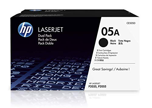 HP 05A | CE505D | 2 Toner Cartridges | Black