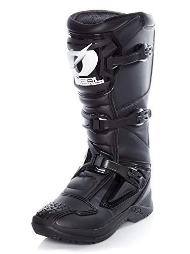 O\'NEAL | Motocross-Stiefel | Motorrad Enduro | Innerer Knöchel-, Fuß, und Schaltzonenschutz, Perforiertes Innenfutter, hochwertiger Mikrofaser | Boots RSX | Erwachsene | Schwarz | Größe 43