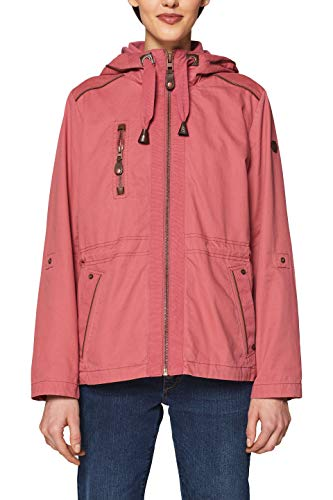 edc by ESPRIT Damen 029CC1G001 Parka, Rot (Cherry RED 615), Large
