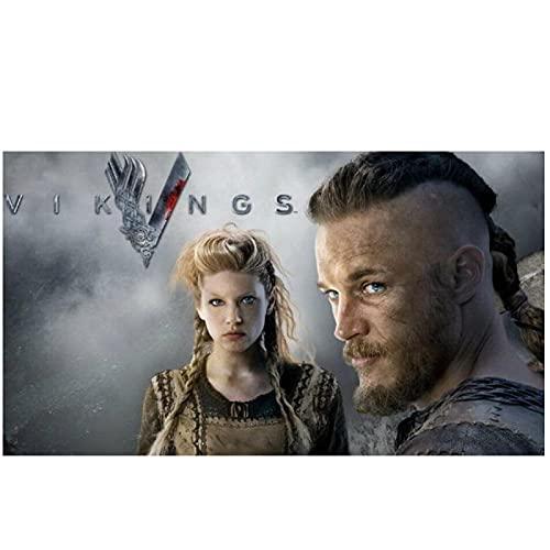 Zplbdw Vikings - Manifesto dello Spettacolo stagionale della Serie TV drammatica storica per la Decorazione del Soggiorno -60x90cmx1pcs- Senza Cornice