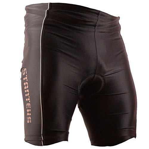 Stanteks Cilindro de pantalón Corto–Pantalones sin Bicicleta Ciclismo Pantalones con Cool MAX Asiento Acolchado sr0041, Hombre, Color Negro, tamaño 46/48