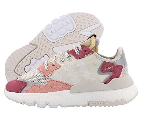 adidas Originals Womens Nite Jogger Fitness Running Shoes White 9.5 Medium (B,M)