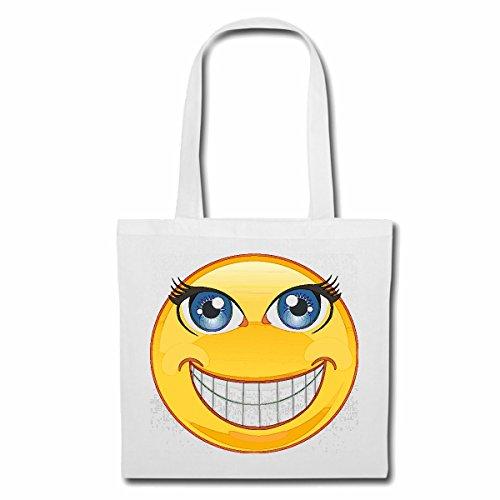 Bolsillo Bolso Bolsa TRAVIESO RISA SONRIENTE SMILEYS LOS SMILIES ANDROID IPHONE EMOTICONOS IOS sonrisa la cara del emoticon APP Bolsa de deporte Bolsas de Blanco