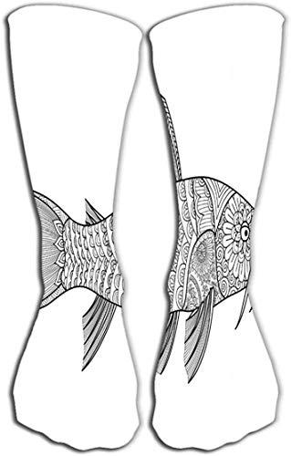 Nifdhkw Socks-Women Men's Luxury Cotton Colorful Cool Fun Knee high Socks 19.7
