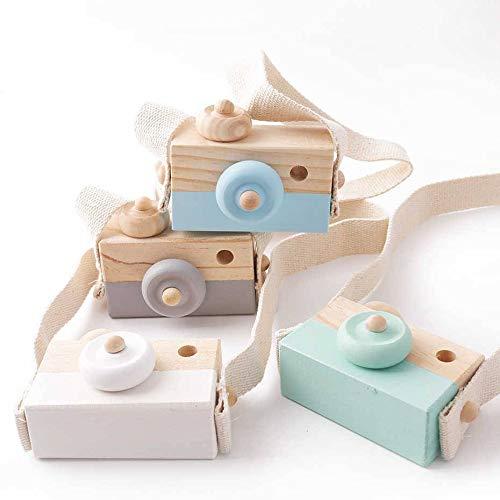 Fotokamera aus Holz, Blau, Geschenke für Babys, Neugeborene