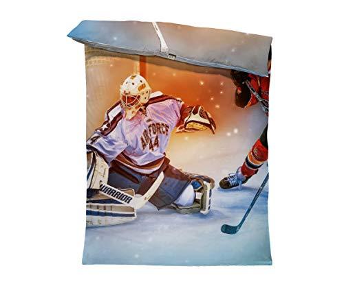 fotobar!style Bettbezug 135 x 200 cm EIN Motiv aus dem Kalender Eishockey - Fight