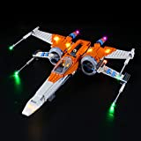 Kit De Luces LED para Lego Star Wars PoE Dameron's X-Wing Fighter, El Kit De Luces LED De Ladrillo Compatible con 75273, No Incluye El Modelo Lego