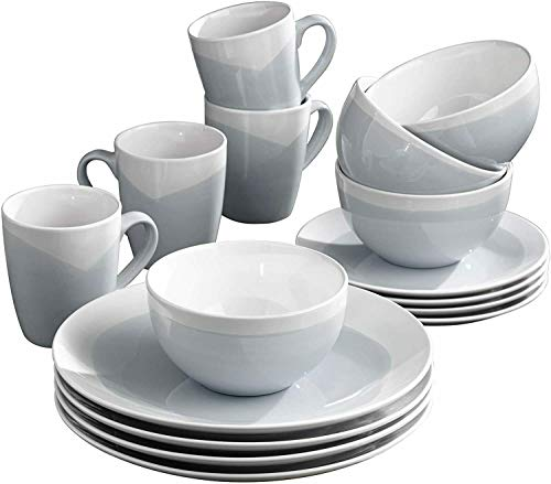 E112 16-Piece Stonewarre Dinnerwarre Set Service - Great For Gifts - AD09