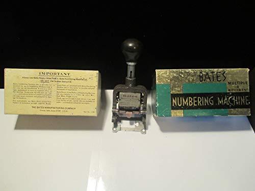 Bates Standard Multiple Movement Numbering Machine, 6 Wheels, Type Size E (9820315) Photo #2