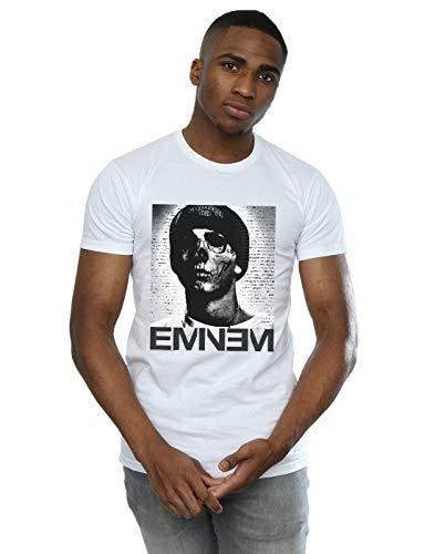 Eminem Herren Skull Face T-Shirt Weiß Large