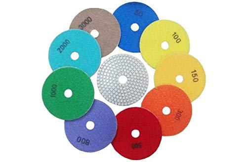 GIPOTIL 5 unids/lote 3 80mm disco blanco húmedo almohadillas de pulido de diamante húmedo disco de sierra de diamante para pulido de mármol de granito, grano 1000