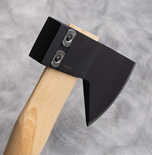 """Cold steel all-purpose axe with hickory handle, great for camping, survival, outdoors, wood cutting and splitting 4 our hudson bay camp axe is faithful to historical examples stretching back over 100 years sized to be convenient to carry on every outdoor adventure, it's an essential tool you won't want to go into the woods without features our ground breaking clamp-like locking mechanism which is so ruggedly hard to """"pull off"""" that it doubles the industry standard; possible to change out a broken handle in less than 2 minutes"""