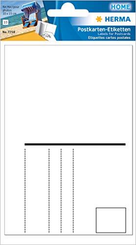 Herma 7758 Postkarten Etiketten für Fotos im Format 10 x 15 cm (Aufkleber Format 95 x 145 mm) 10 Stück, weiß, selbstklebend, blickdicht
