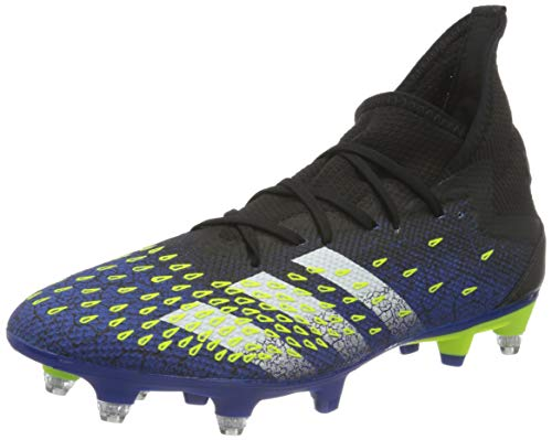 adidas Predator Freak .3 SG, Zapatillas de fútbol Hombre, NEGBÁS/FTWBLA/Amasol, 46 EU